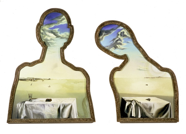 Couple aux têtes pleine de nuages