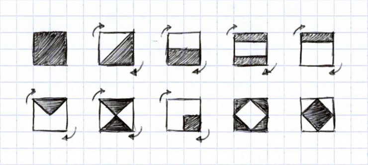 Formes pixels